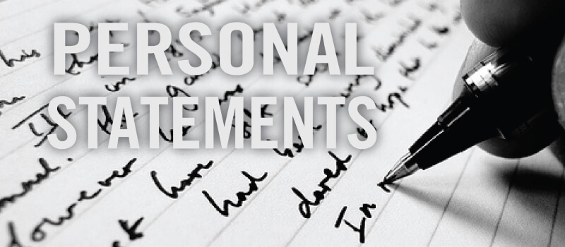 Your personal statement is carefully read by college professors.